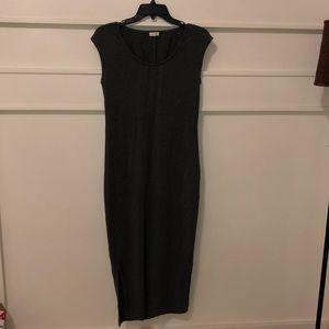 Garnet hill xs grey maxi/midi dress